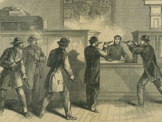Confederate Raid on St. Albans, Vermont.