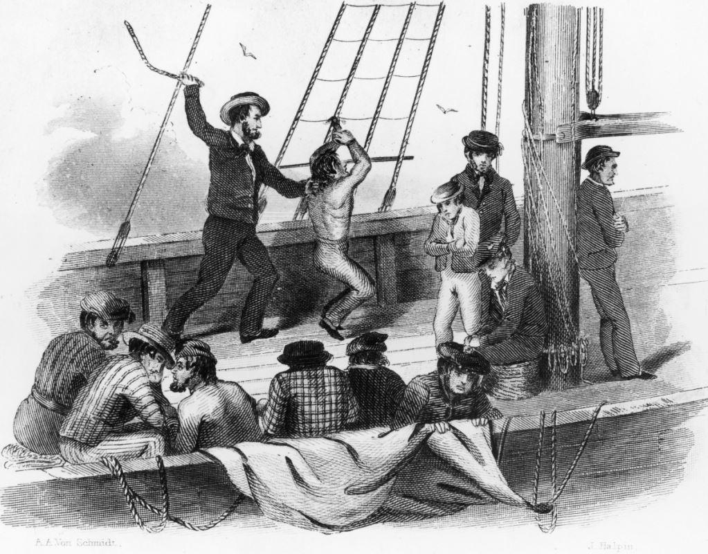 Naval flogging