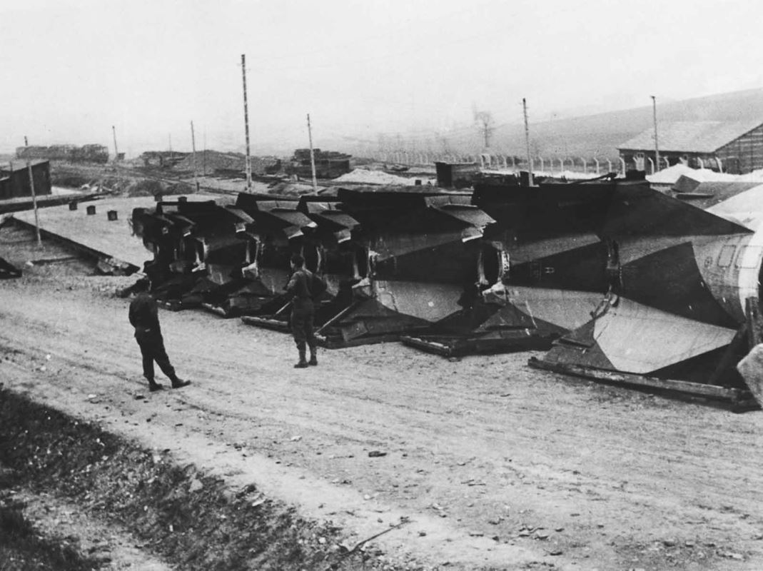 V-2's captured by allied forces.
