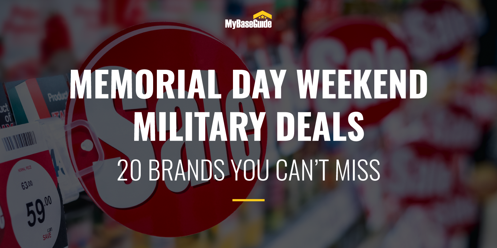 Memorial Day Weekend Military Deals