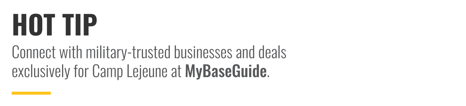 Connect with military-trusted businesses and deals exclusively on MyBaseGuide.com