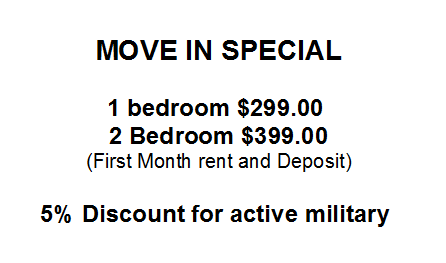299 00 Move In Special For 1 Bedrooms 399 00 Move In Special For 2 Bedrooms Mybaseguide