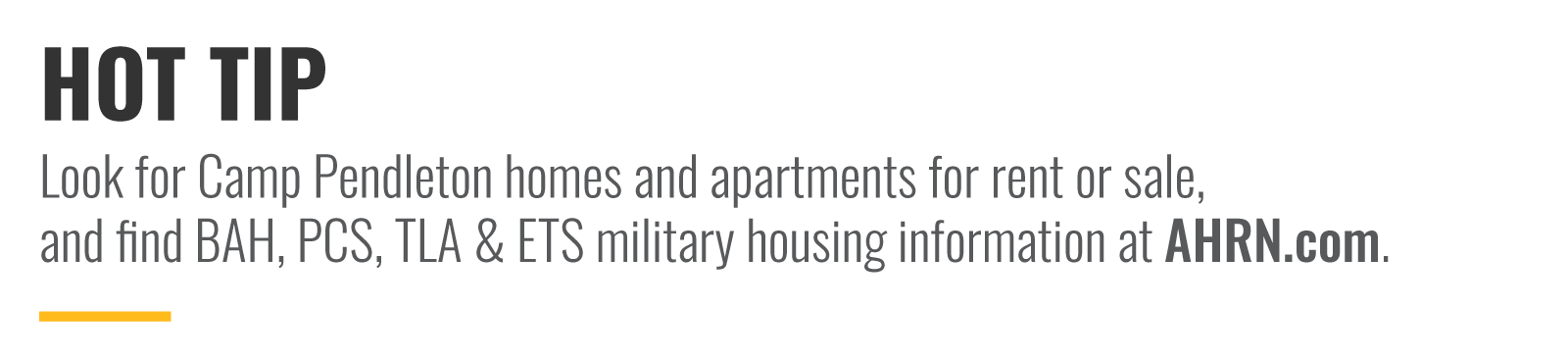 Hot Tip: Look for Camp Pendleton homes and apartments on AHRN.com