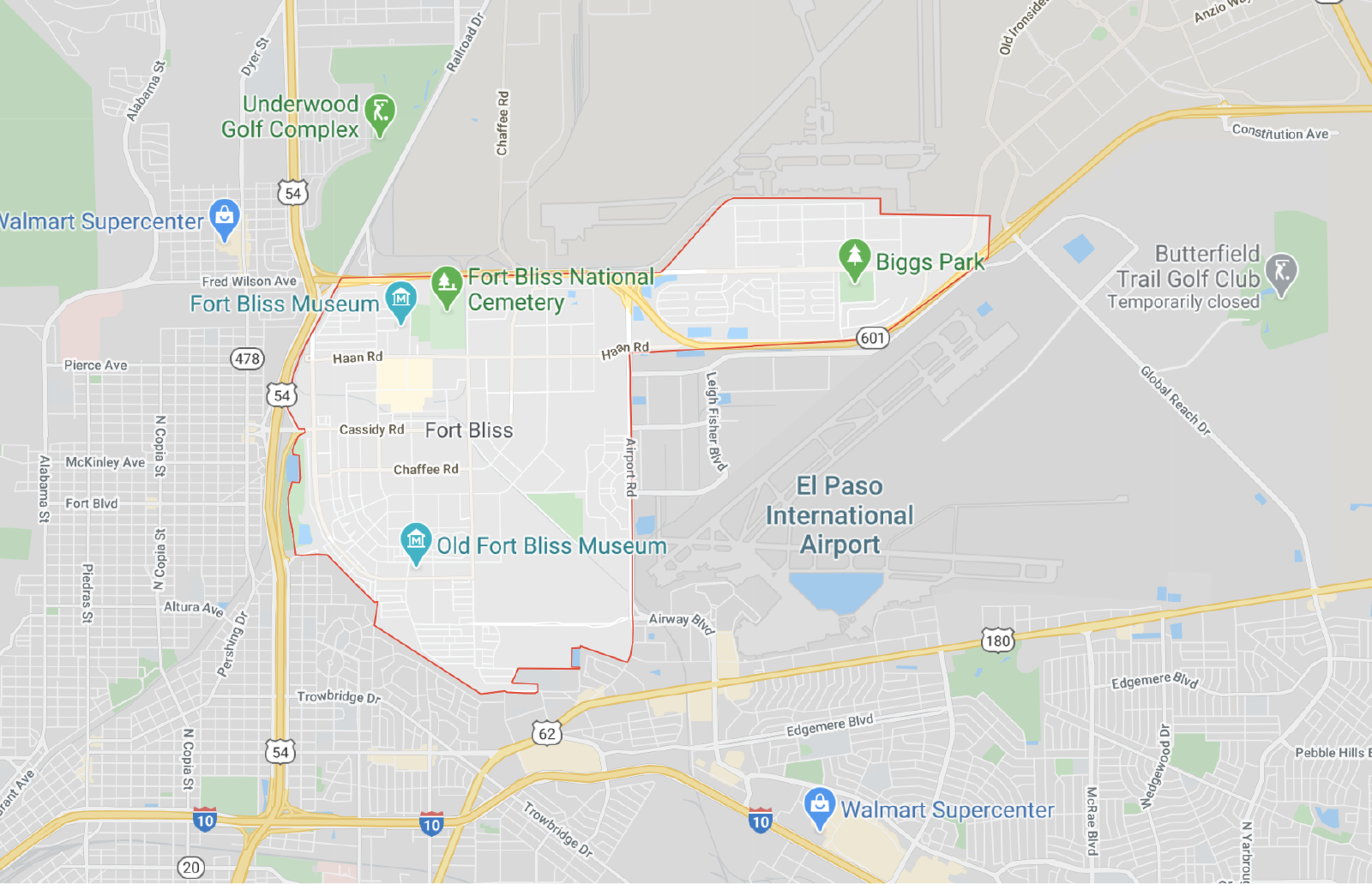 Fort Bliss Map