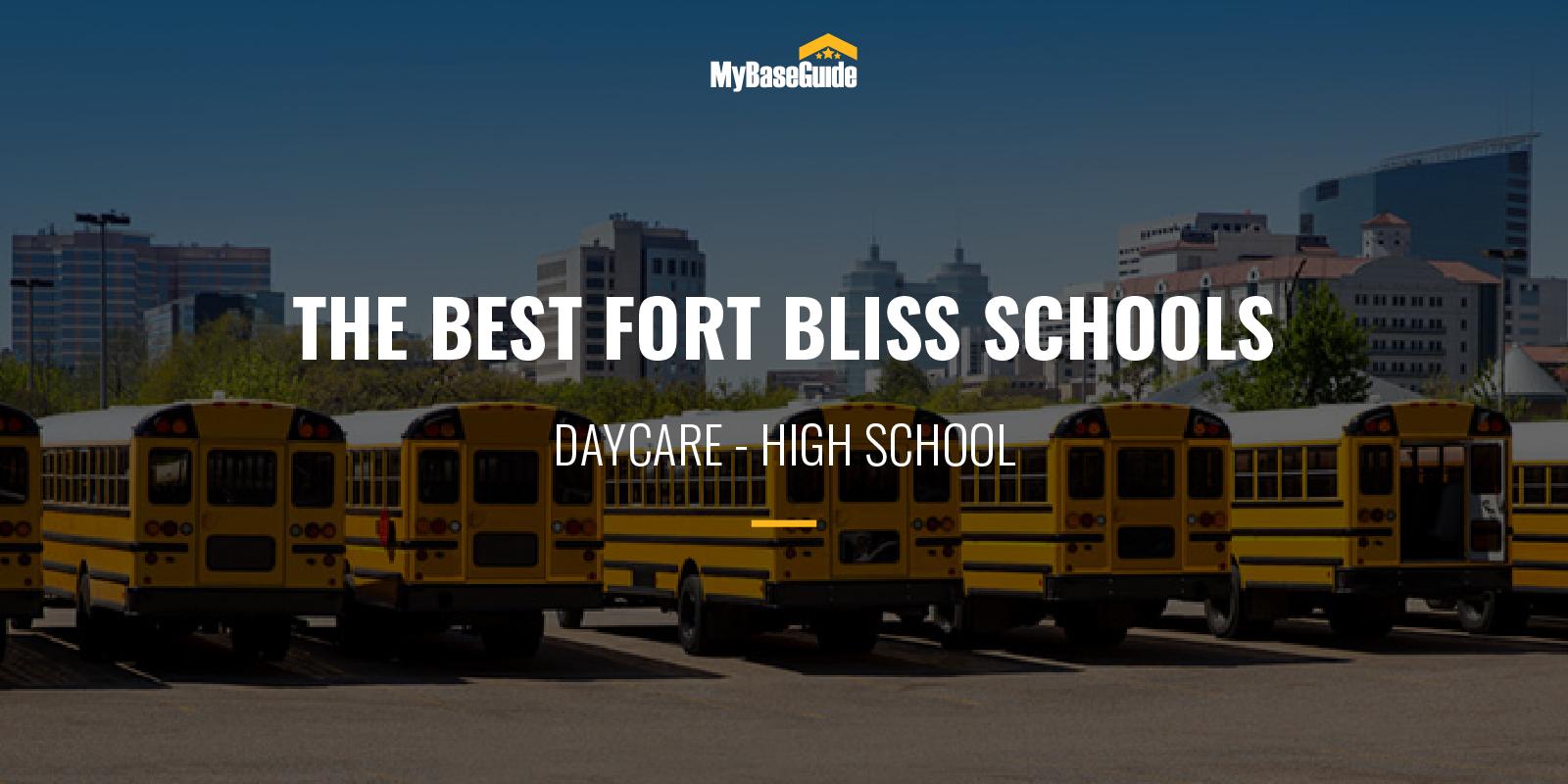 Best Schools Fort Bliss