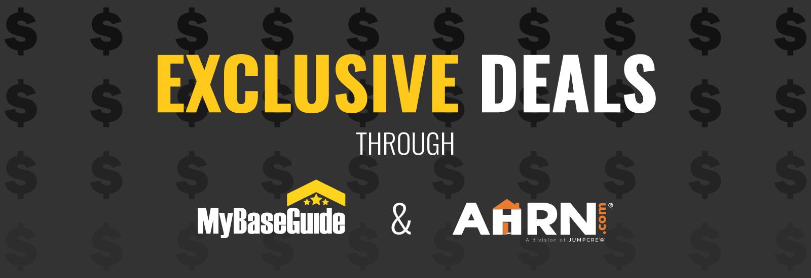 Exclusive Deals Through AHRN.com and MyBaseGuide