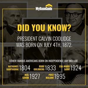 Famous people born on the 4th of July