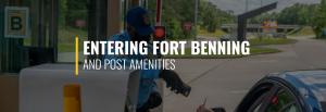 Entering Fort Benning