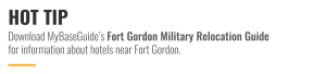 Download MyBaseGuide's Fort Gordon Military Relocation Guide