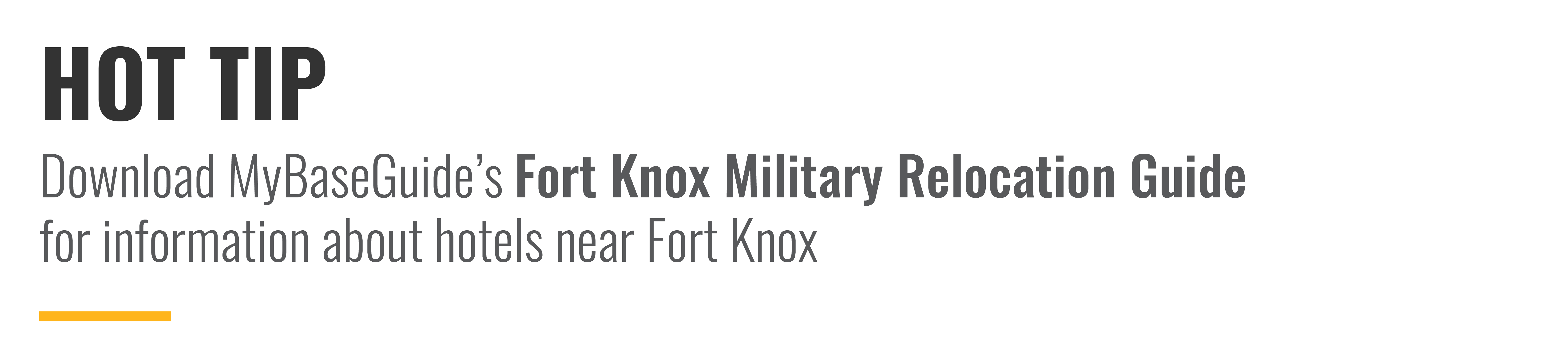Download MyBaseGuide's Fort Knox Military Relocation Guide for information about hotels near Fort Knox.