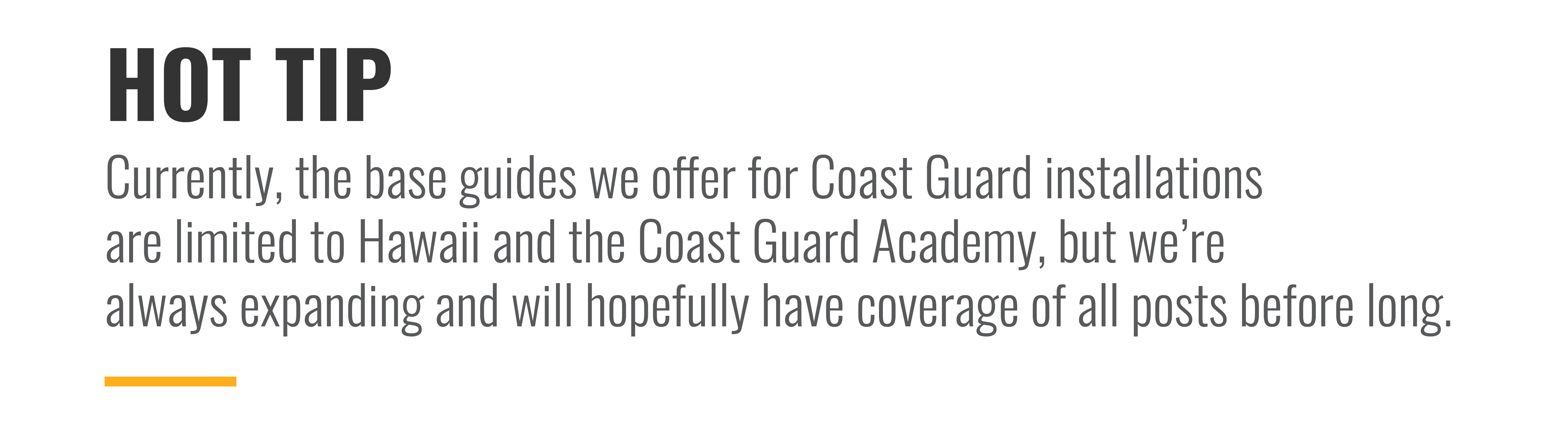 Coast Guard installations on MyBaseGuide