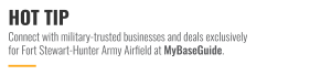 Connect with military-trusted businesses and deals on MyBaseGuide.com