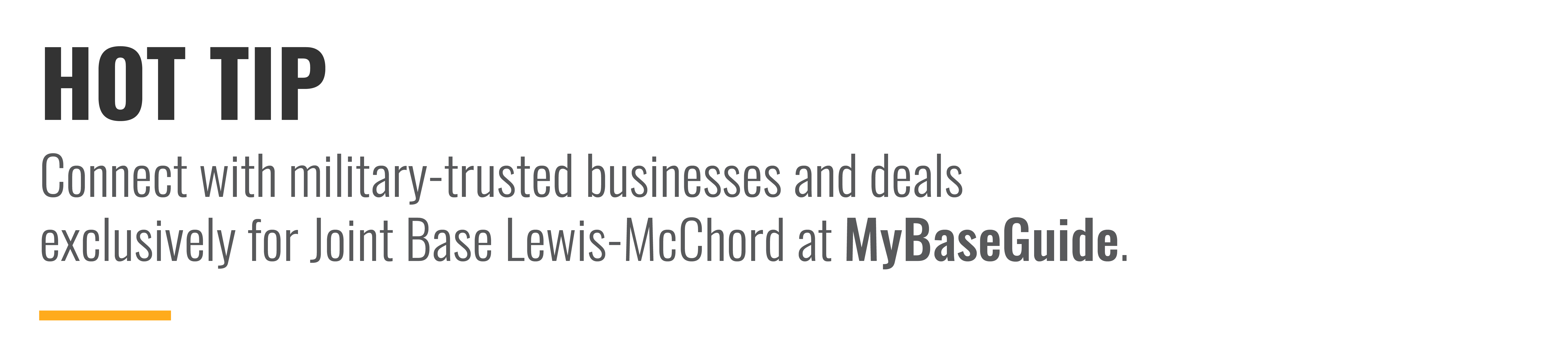 Connect with military-trusted businesses and deals exclusively on MyBaseGuide.