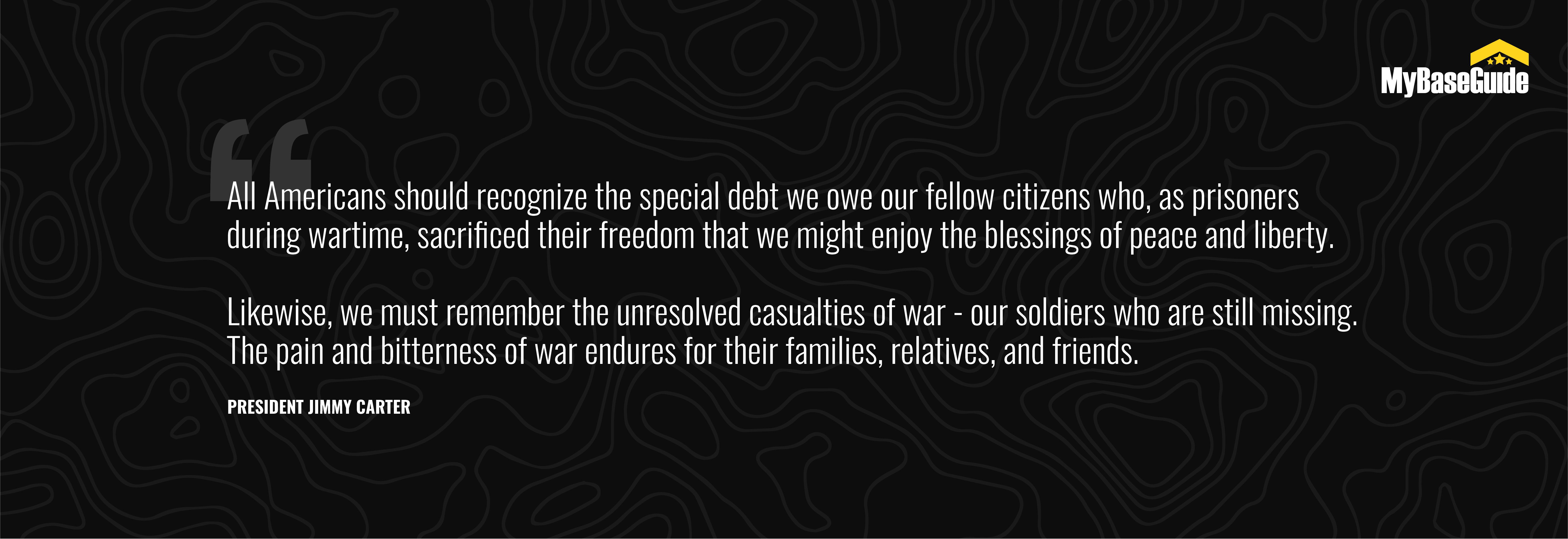 President Jimmy Carter POW/MIA Quote