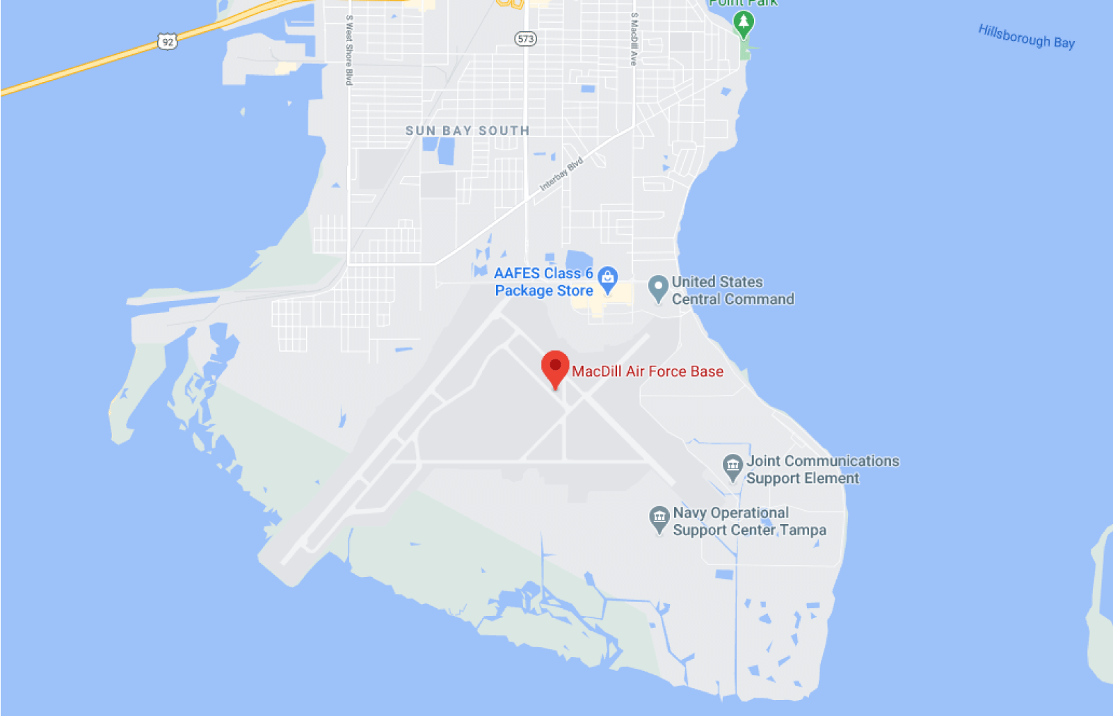 MacDill Air Force Base Installation Map