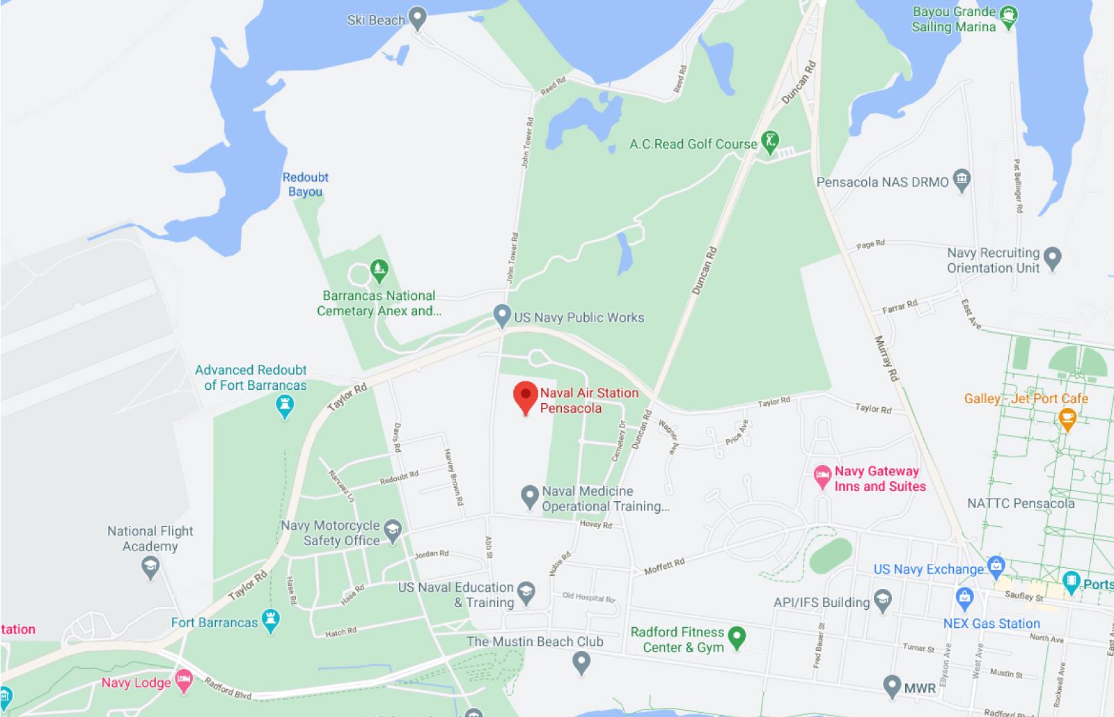 NAS Pensacola Map