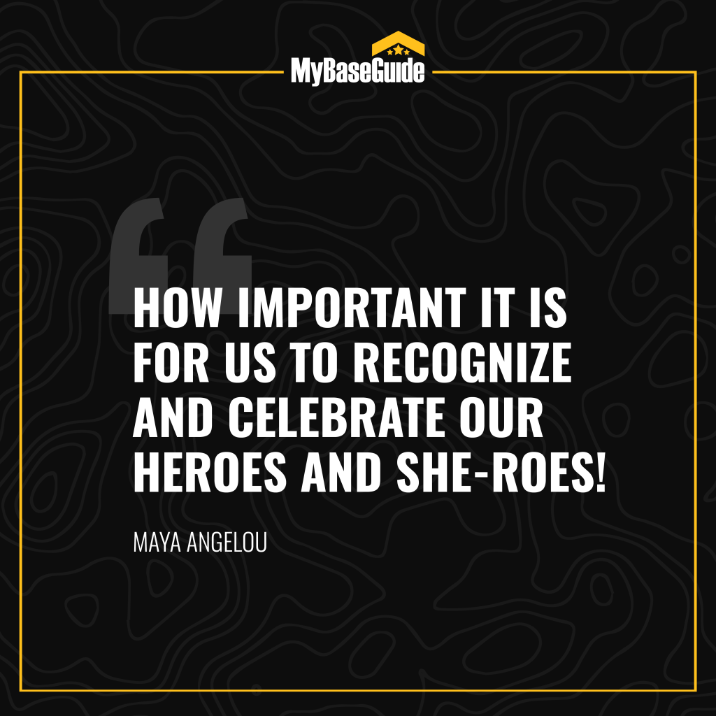 """""""How important it is for us to recognize and celebrate our heroes and she-roes!"""" – Maya Angelou"""