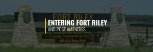 Entering Fort Riley