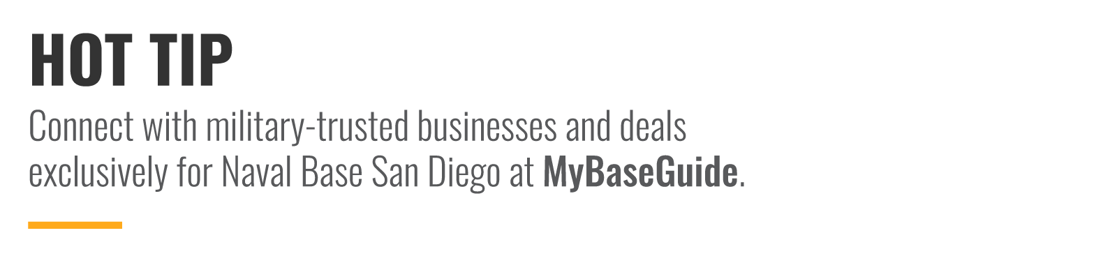 Connect with military-trusted businesses and deals exclusively MyBaseGuide