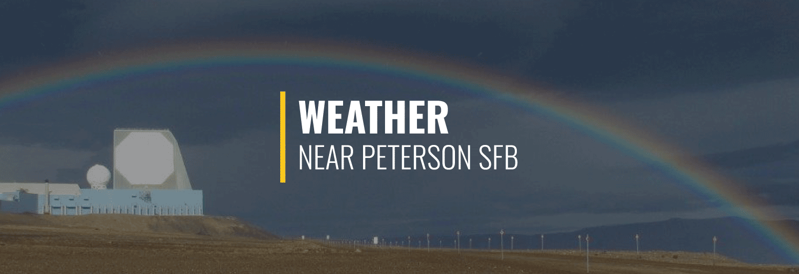 Peterson AFB (Now Peterson Space Force Base) Weather