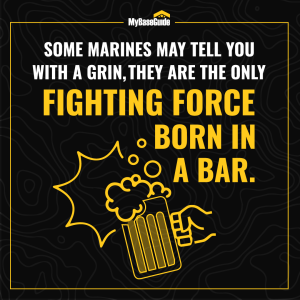 Some Marines may tell you with a grin, they are the only fighting force born in a bar.