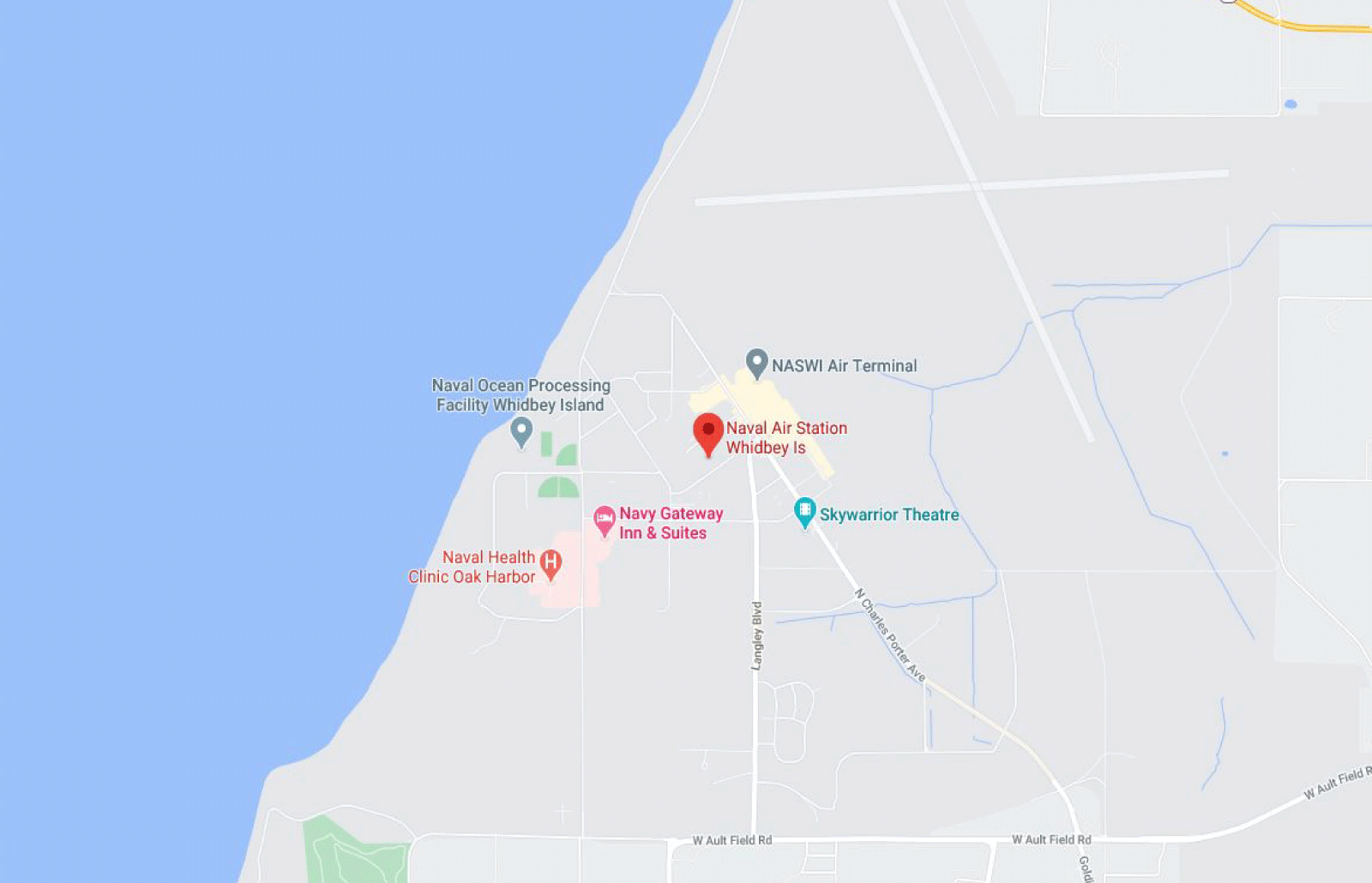 NAS Whidbey Island Base Map