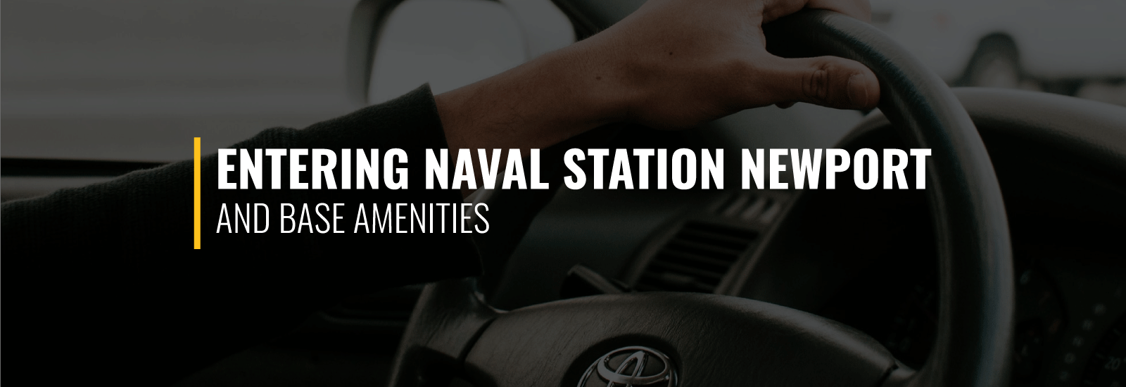 Entering Naval Station Newport