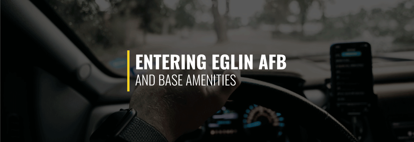 Entering Eglin AFB and Base Amenities