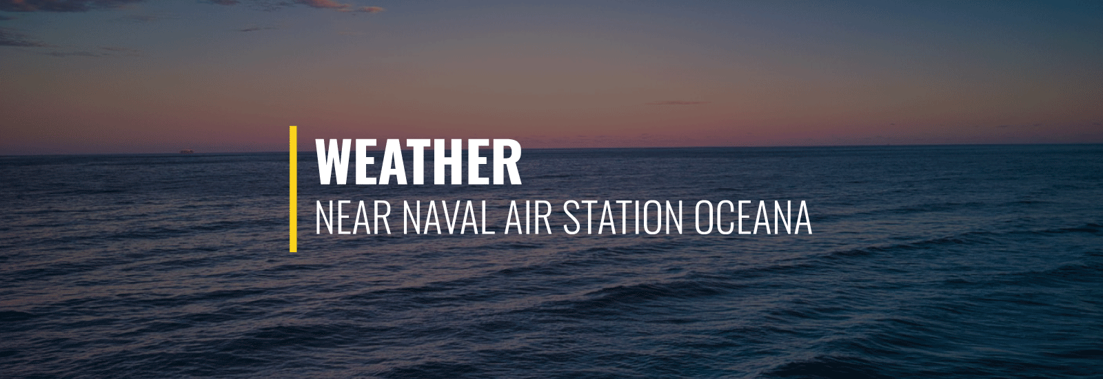 NAS Oceana Weather