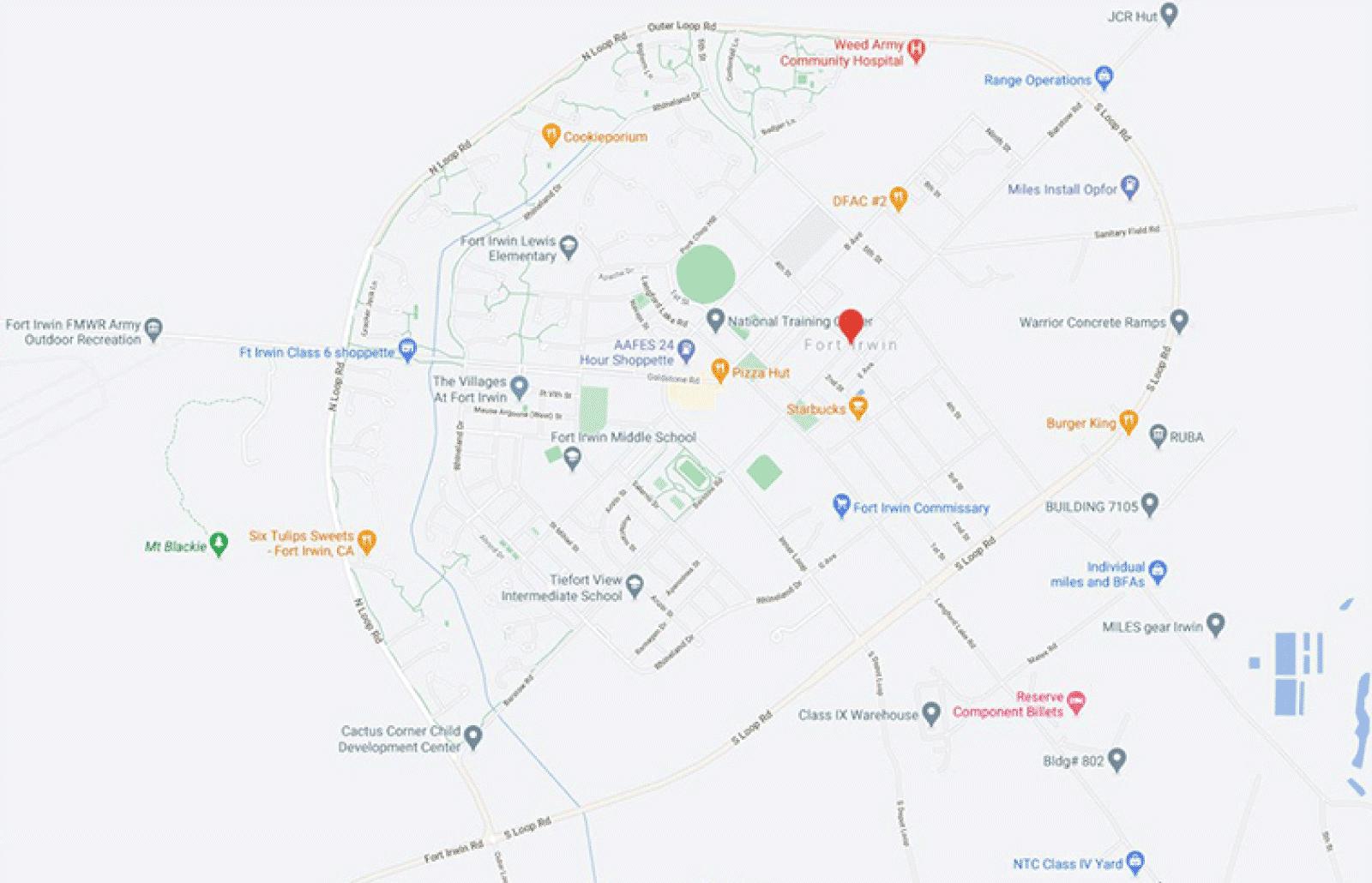 Fort Irwin Map