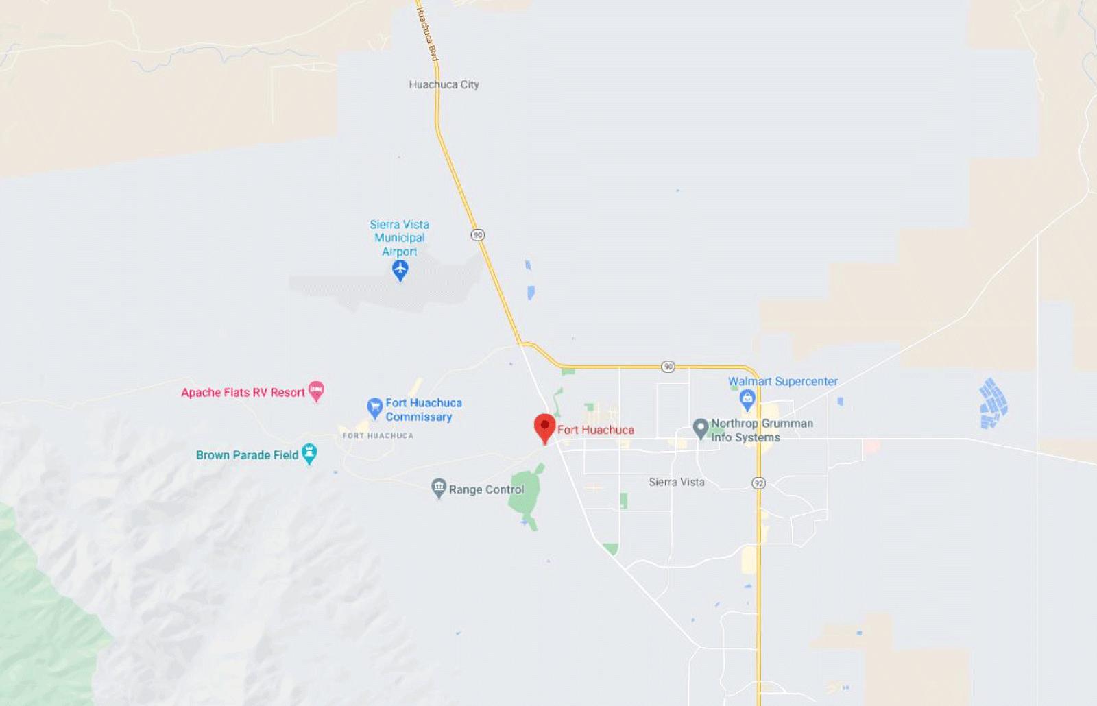 Fort Huachuca Map