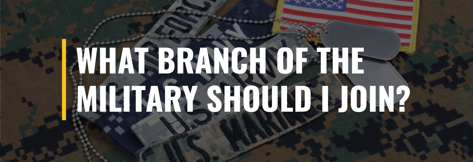 What Branch of the Military Should I Join?