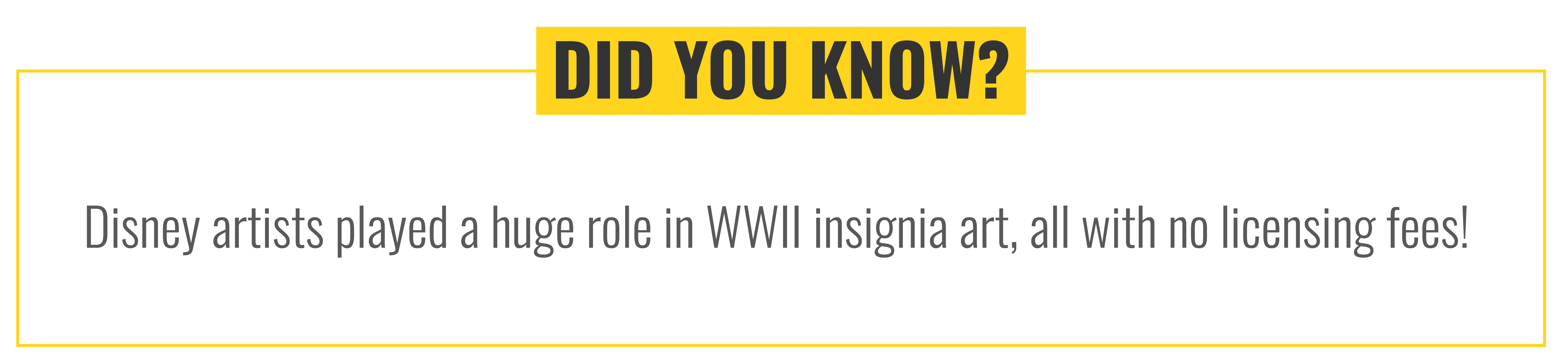 Fun Fact! Disney artists played a huge role in WWII insignia art, all with no licensing fees!
