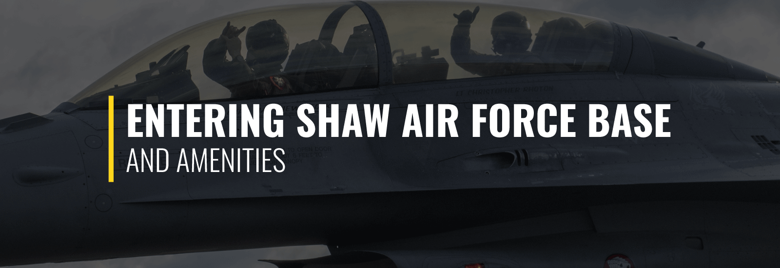 Entering Shaw Air Force Base and Amenities