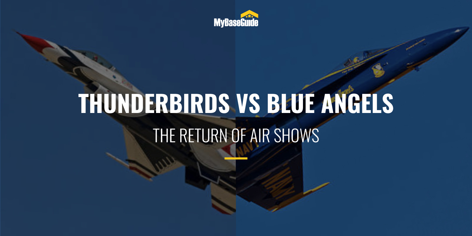 Thunderbirds vs Blue Angels: The Return of the Air Shows