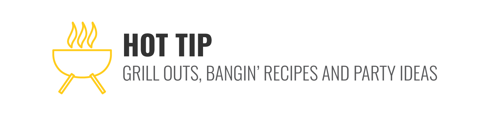 Speaking of grill outs, if you are looking for some bangin' recipes and party ideas, you'll have to head over to our latest blog here!
