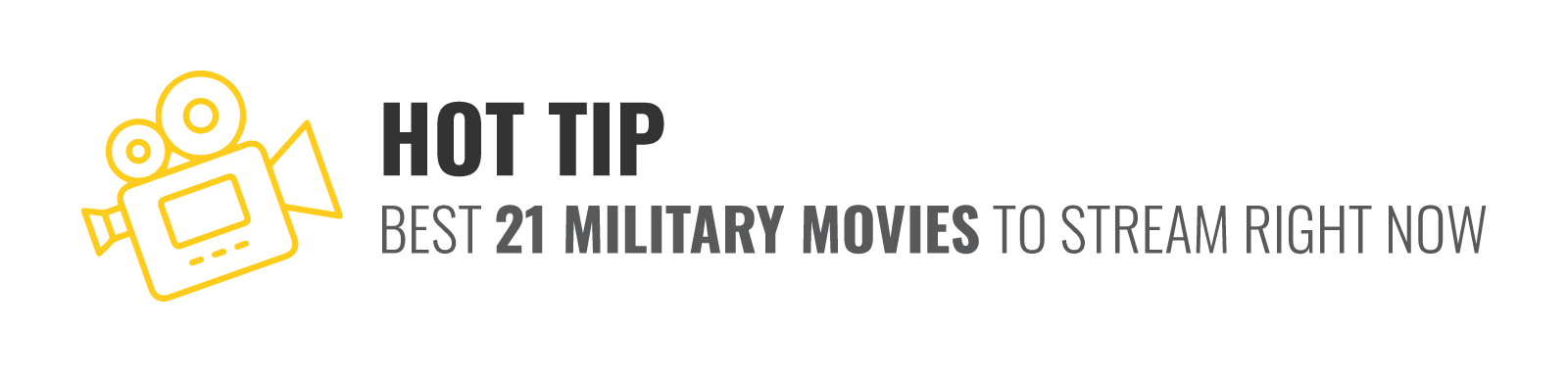 Hot Tip - We also have the list of the best 21 Military movies to stream right now in our trending blog here.