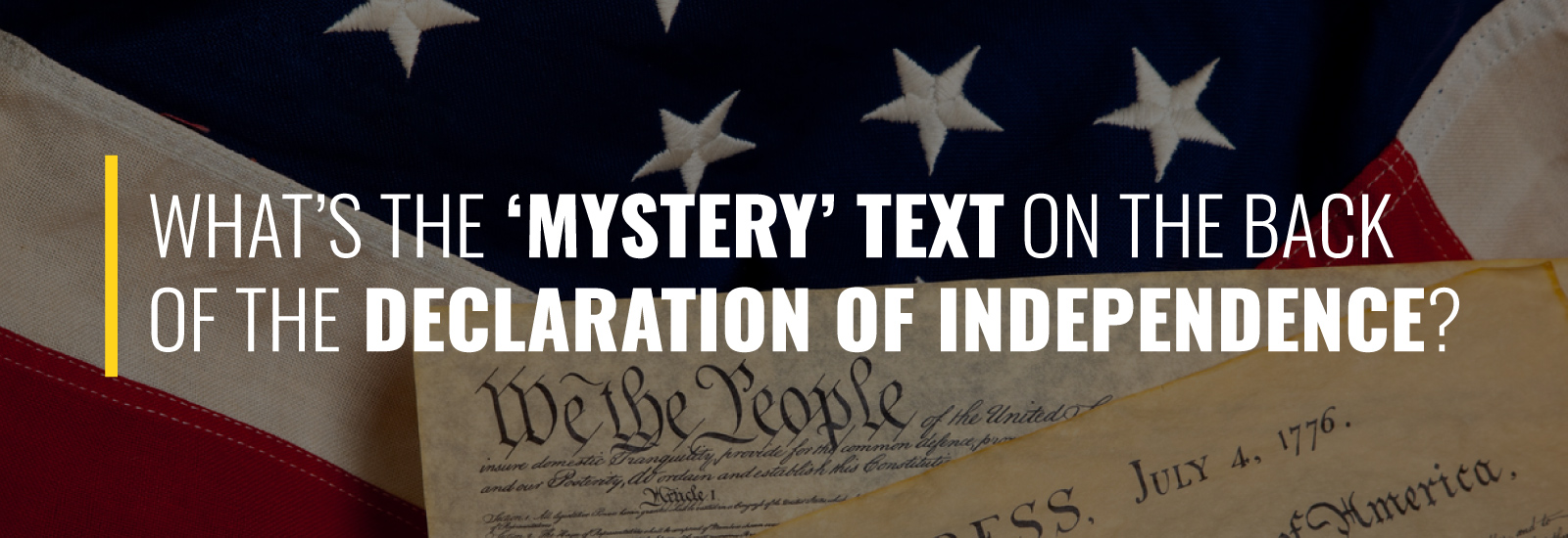 What's the 'Mystery' Text on the Back of the Declaration of Independence?