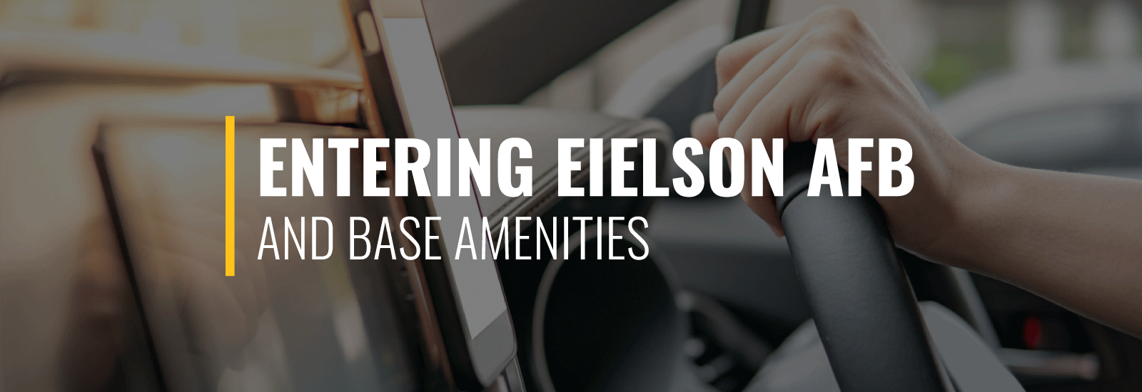 Entering Eielson Air Force Base and Amenities