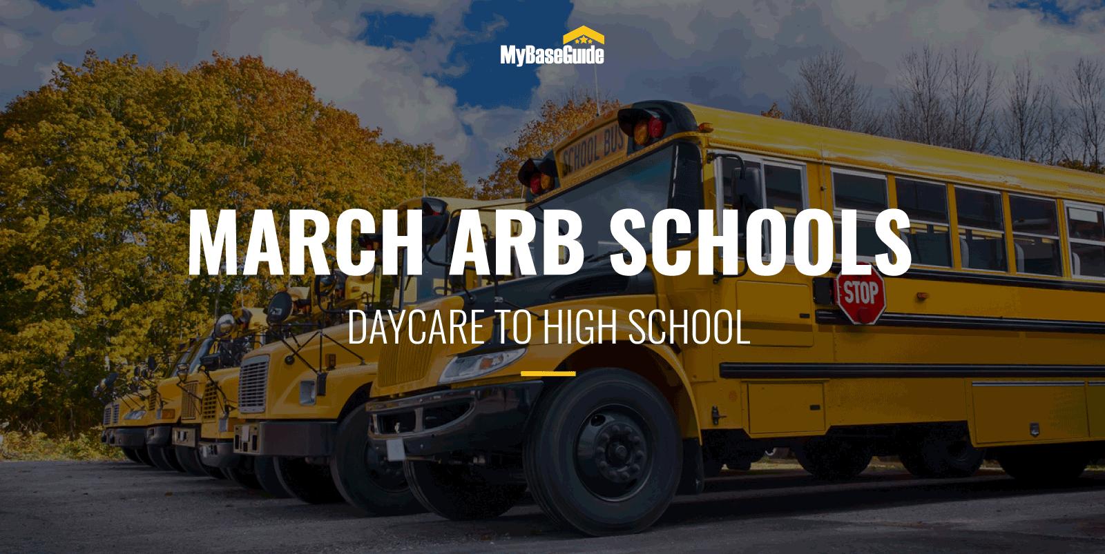 March ARB Schools: Daycare - High School