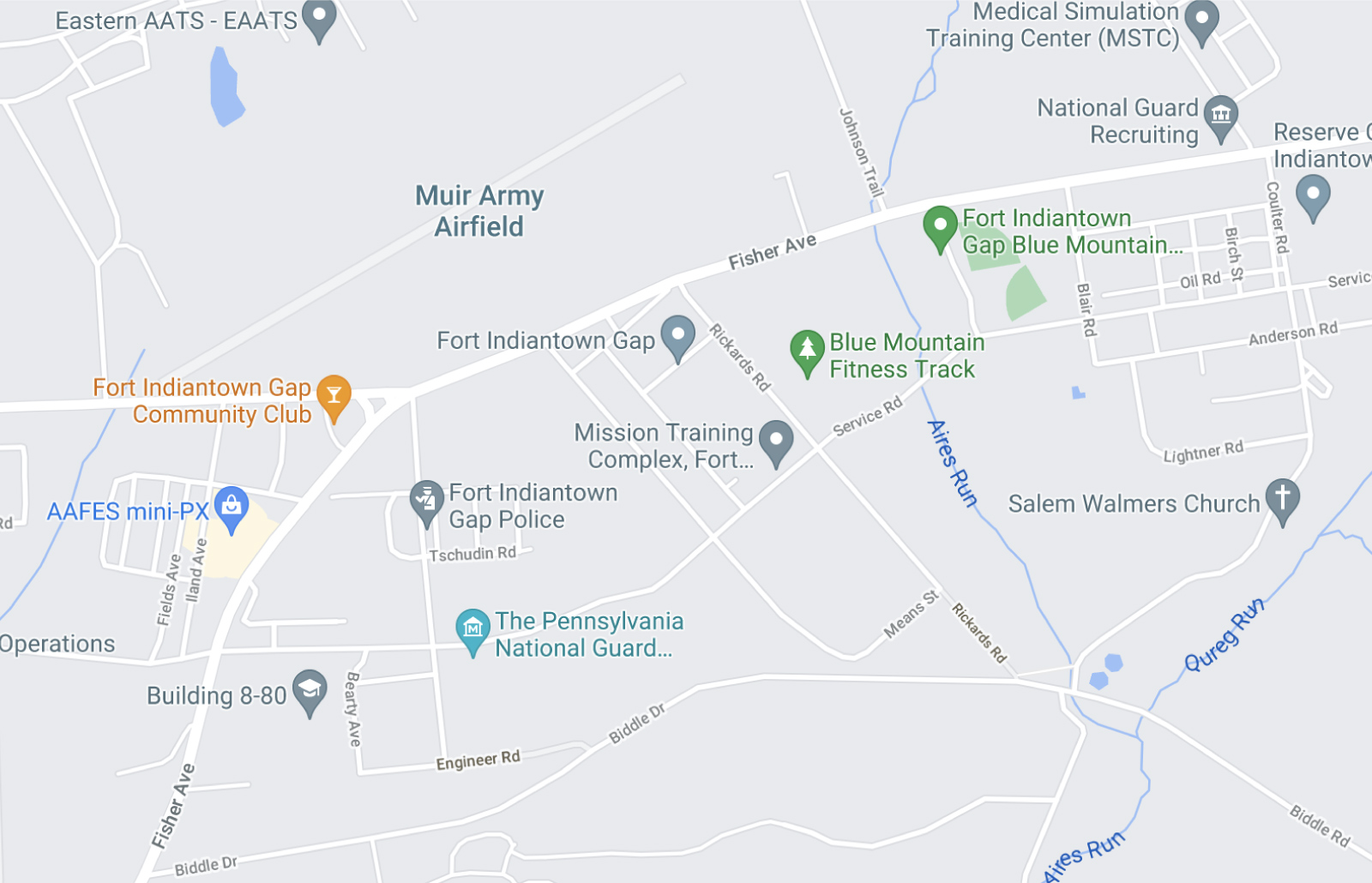 Fort Indiantown Gap Map