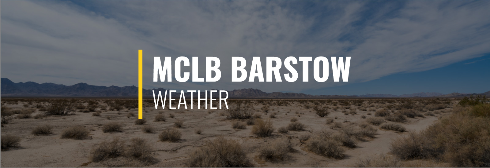 MCLB Barstow Weather