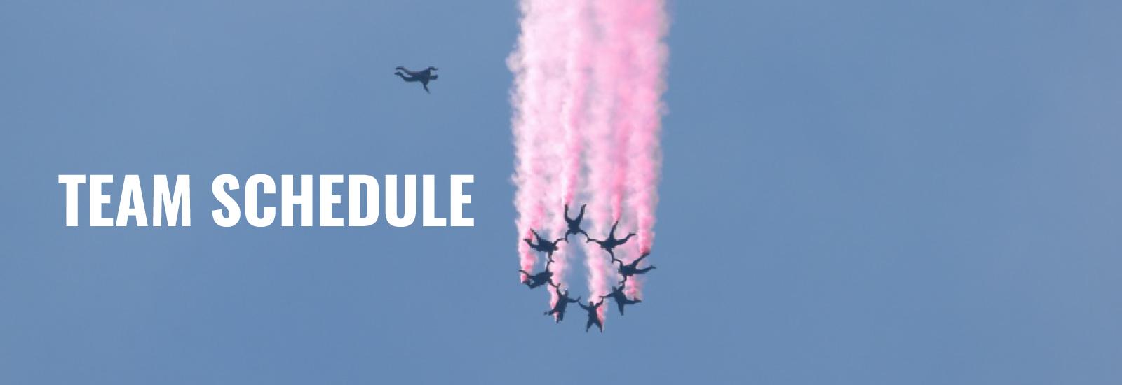 Golden Knights Parachute Team Schedule