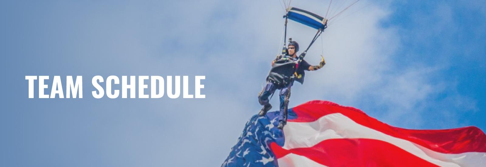 U.S. Navy SEALs Leap Frogs Parachute Team Schedule