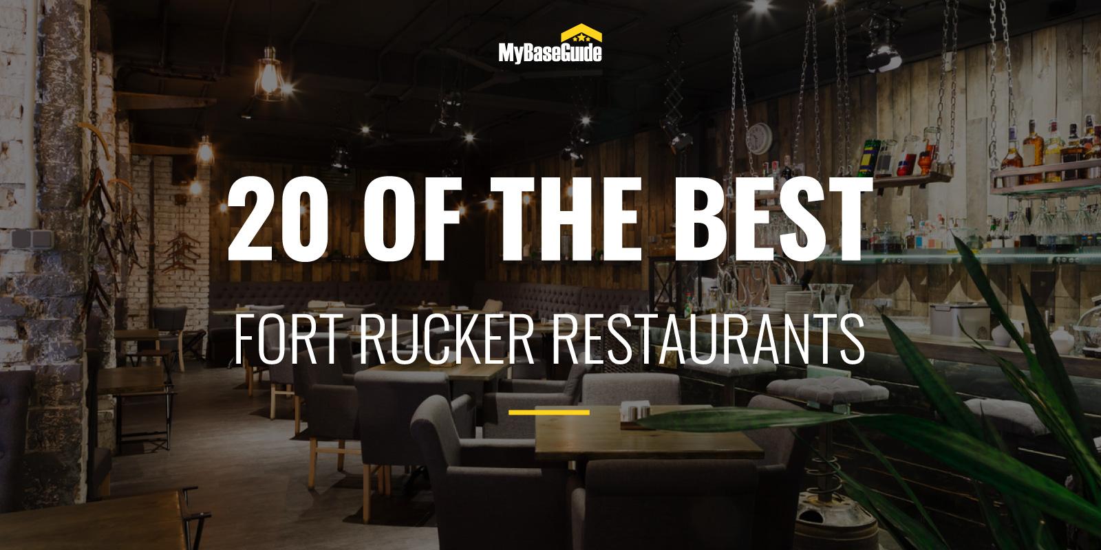 20 of the Best Fort Rucker Restaurants